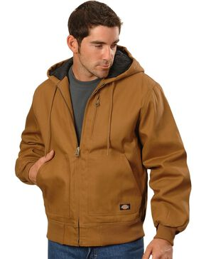 Dickies Rigid Duck Hooded Jacket, Brown Duck, hi-res