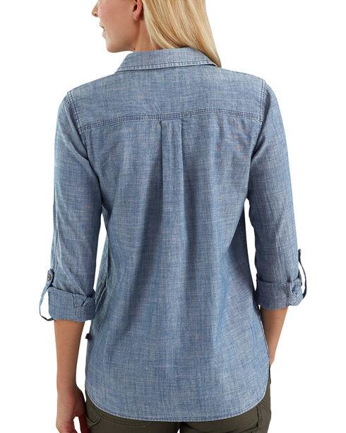 Carhartt Women's Indigo Fairview Solid Shirt , Indigo, hi-res