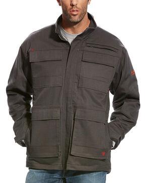 Ariat Men's FR Dark Grey Canvas Stretch Jacket, Dark Grey, hi-res