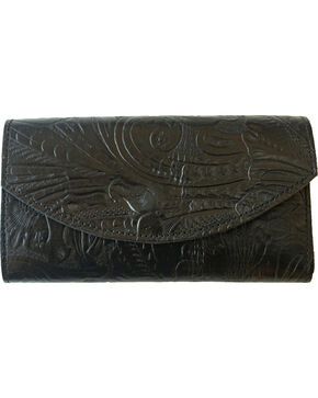 Western Express Women's Organizer Leather Wallet , Black, hi-res