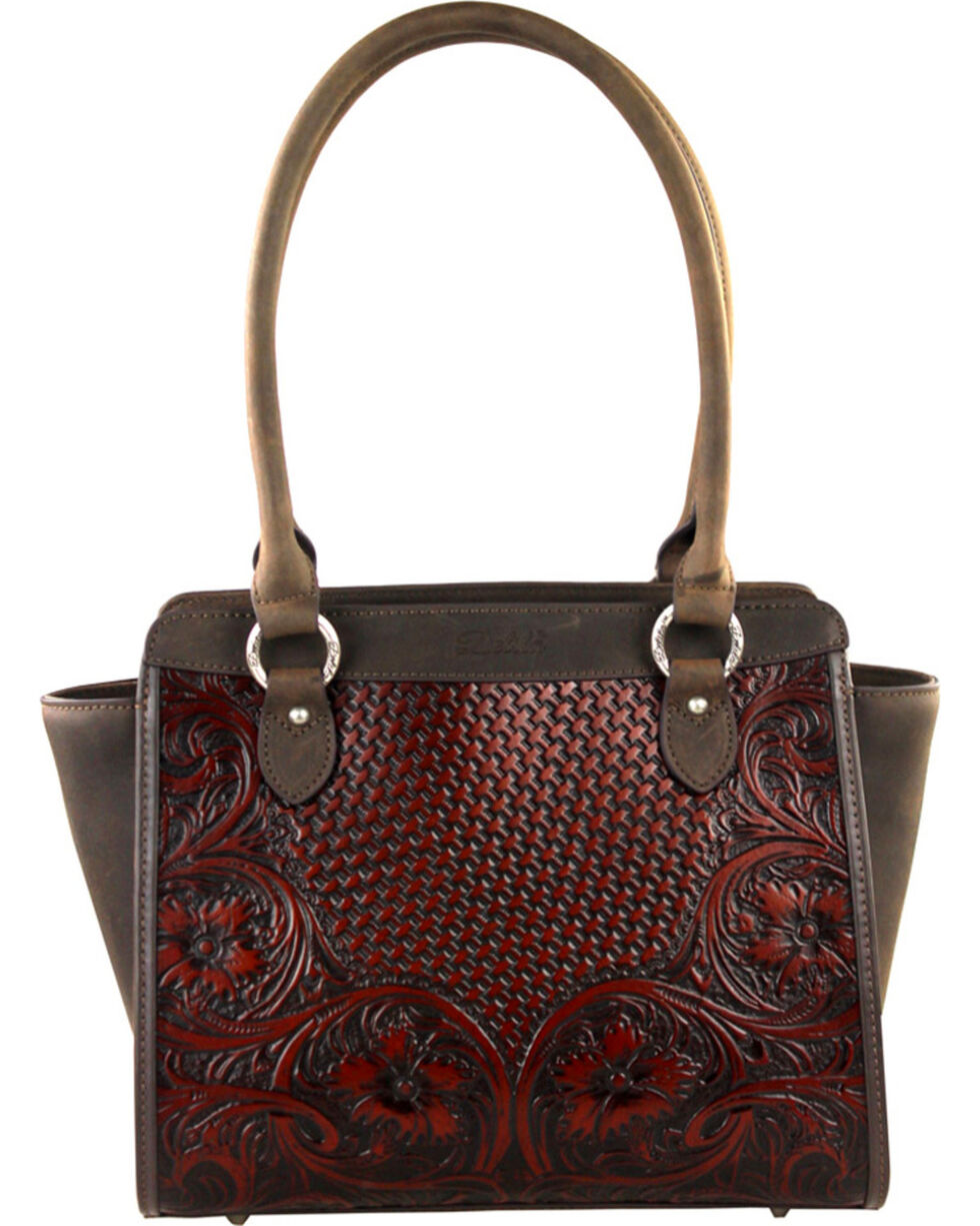 Montana West Coffee Delila 100% Genuine Leather , Brown, hi-res