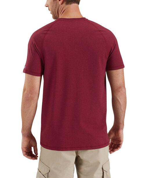 Carhartt Force Cotton Henley Short Sleeve Work Shirt - Big & Tall, Cognac, hi-res