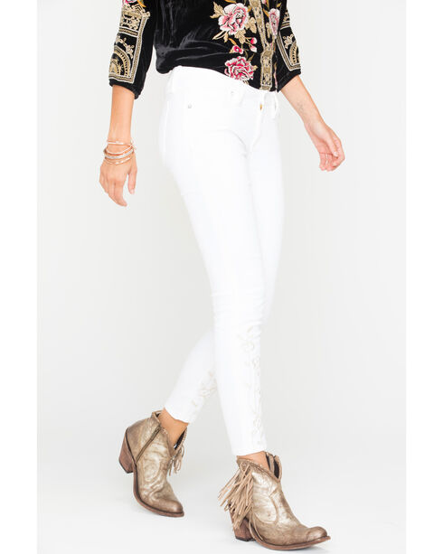 Miss Me Women's White Endless Summer Mid-Rise Jeans - Ankle Skinny , White, hi-res
