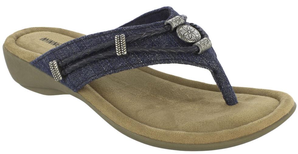 Minnetonka Women's Denim Silverthorne Thong Sandals, , hi-res