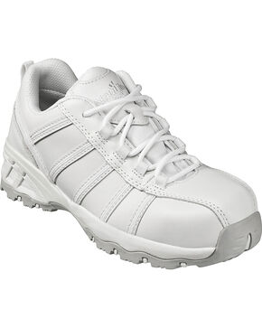 Nautilus Women's White Metal Free Athletic Work Shoes - Composite Toe , White, hi-res