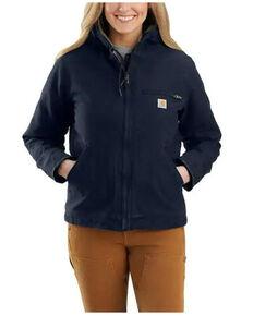 Carhartt Women's Navy Sherpa Lined Work Jacket , Navy, hi-res
