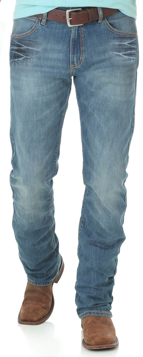 Wrangler Retro Men's Blue Slim Huntsville Jeans - Straight Leg, Blue, hi-res