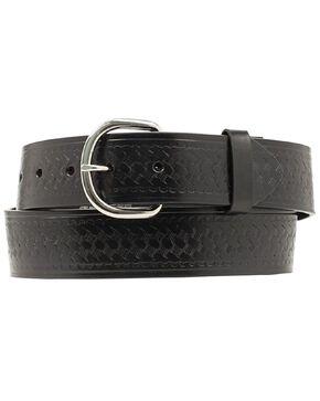 Nocona Basket Stamped Leather Belt - XL, Black, hi-res