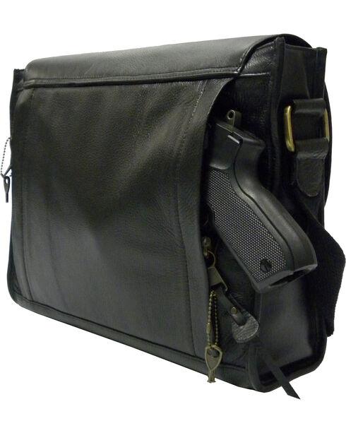 Designer Concealed Carry iBag Messenger Bag, Black, hi-res
