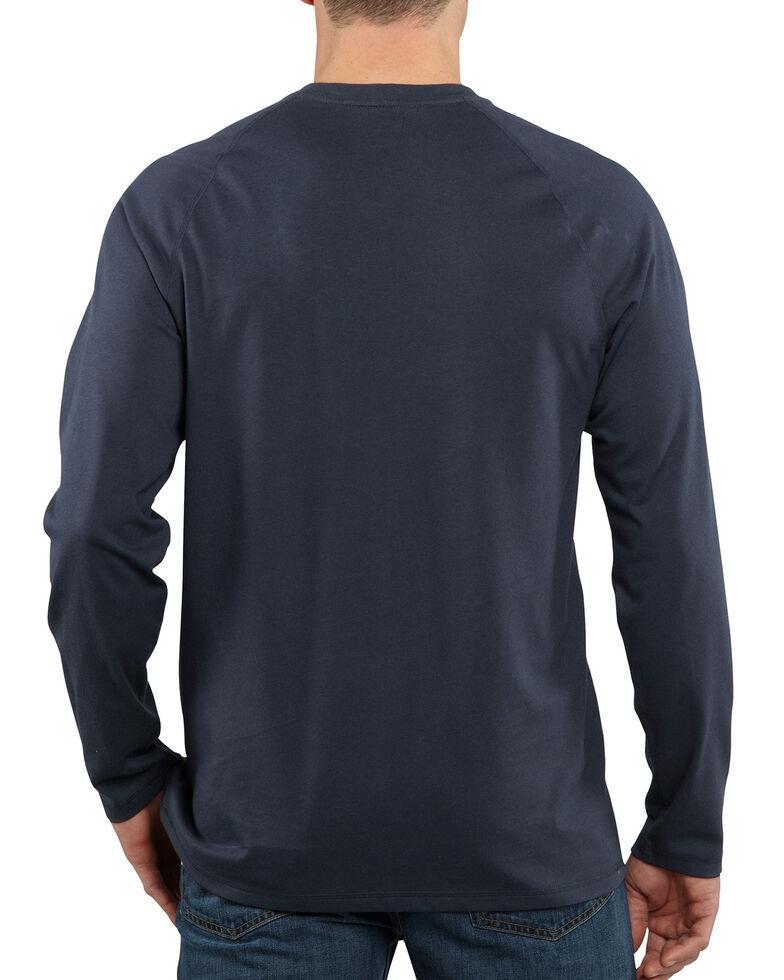 Carhartt Men's Solid Force Long Sleeve Work Shirt - Big & Tall, Navy, hi-res