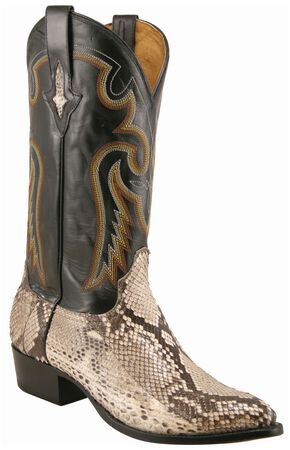 Lucchese Handcrafted 1883 Belly Cut Python Cowboy Boots, Natural, hi-res