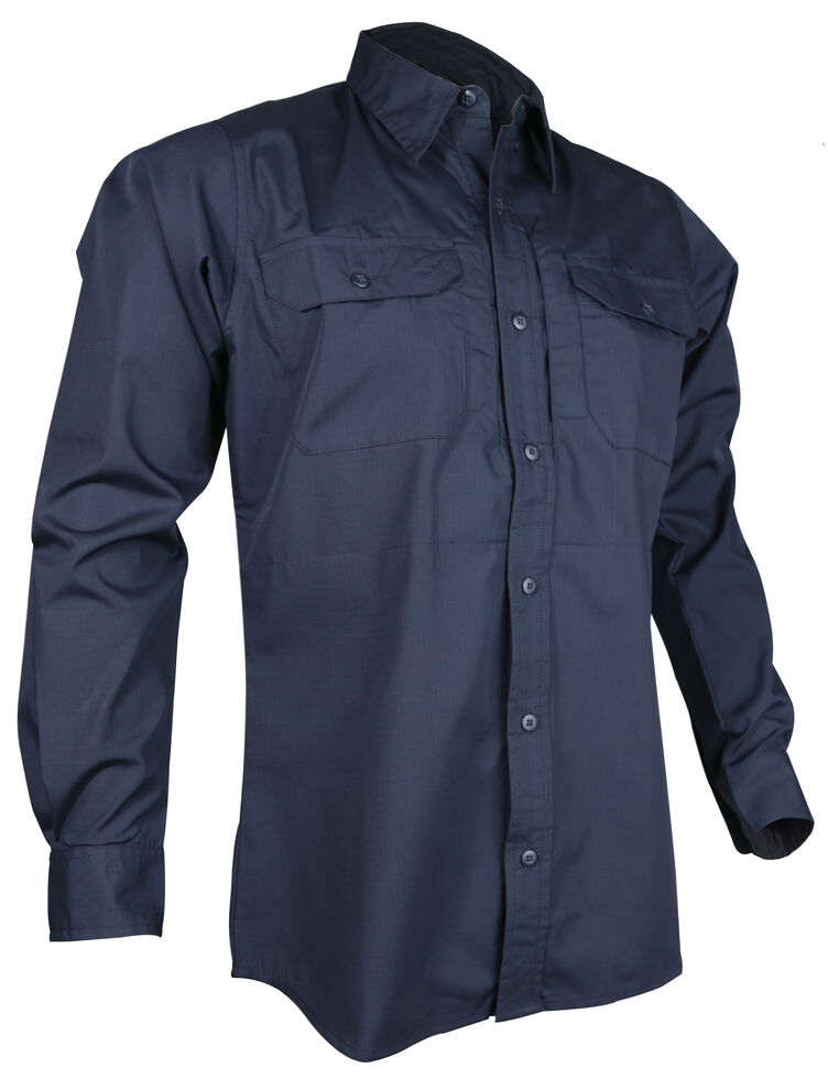 Tru-Spec Men's Navy 24-7 Long Sleeve Dress Shirt , Navy, hi-res