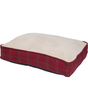 HiEnd Accents Red Cascade Lodge Houndstooth Dog Bed , Red, hi-res