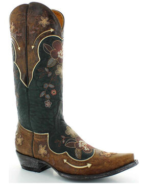 Old Gringo Women's Black Bonnie Western Boots - Snip Toe , Black, hi-res