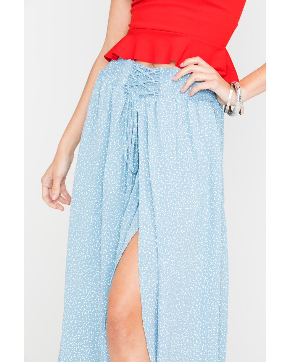 Sage the Label Women's Blue Keep Her Wild Maxi Skirt, Light Blue, hi-res