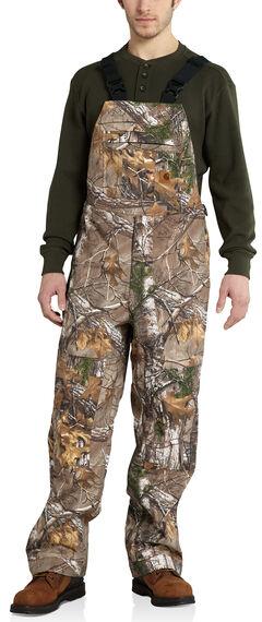 Carhartt Men's Camo Shoreline Bib Overalls, Camouflage, hi-res