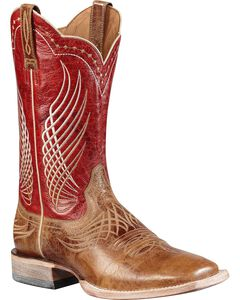 Ariat Mecate Cowboy Boots - Square Toe, Tan, hi-res