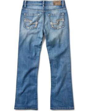 Silver Jeans Boys' Zane Medium Wash Boot Cut Jeans, Indigo, hi-res