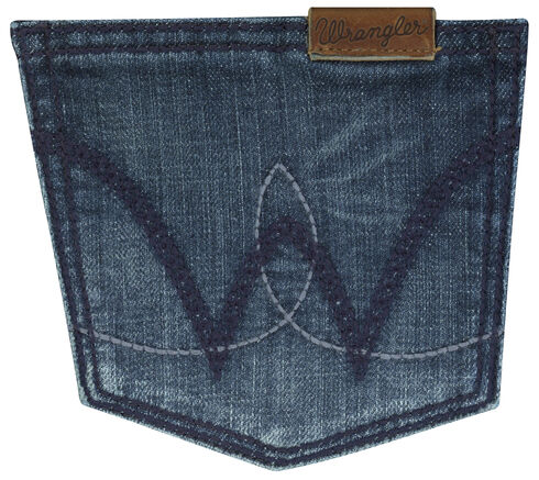 Wrangler Women's Mae Booty Up Bootcut Jeans, Dark Blue, hi-res