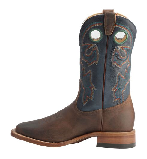 Boulet Stockman Cowboy Boots - Wide Square Toe, Chestnut, hi-res
