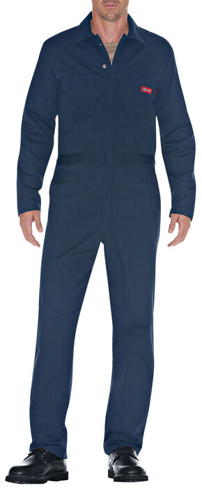 Dickies Flame Resistant Twill Coveralls - Big & Tall, Navy, hi-res