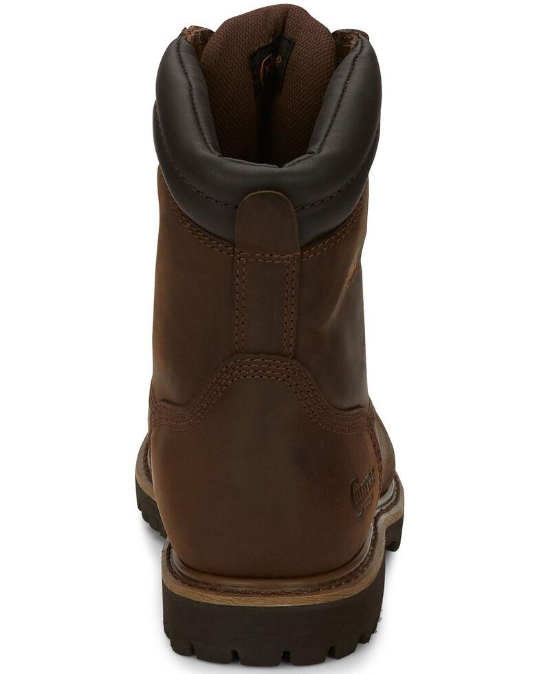"Chippewa Heavy Duty Waterproof & Insulated Aged Bark 8"" Work Boots - Steel Toe, Bark, hi-res"
