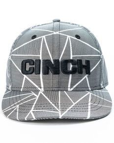 Cinch Men's Geometric Logo Ball Cap, White, hi-res