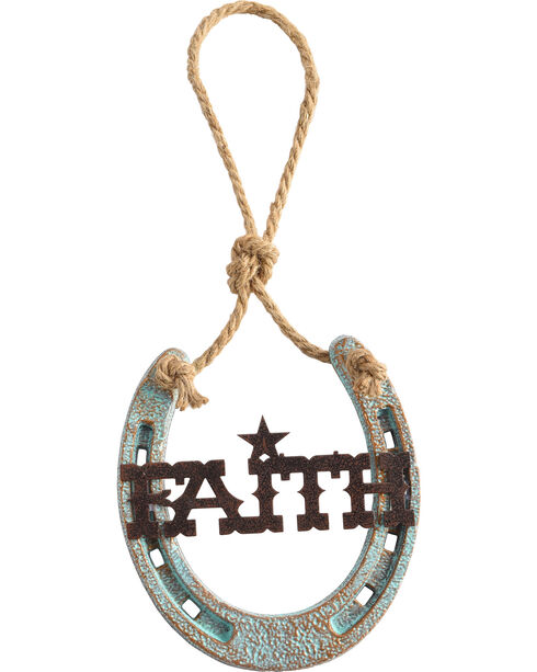 BB Ranch Faith Horse Shoe Decor, No Color, hi-res