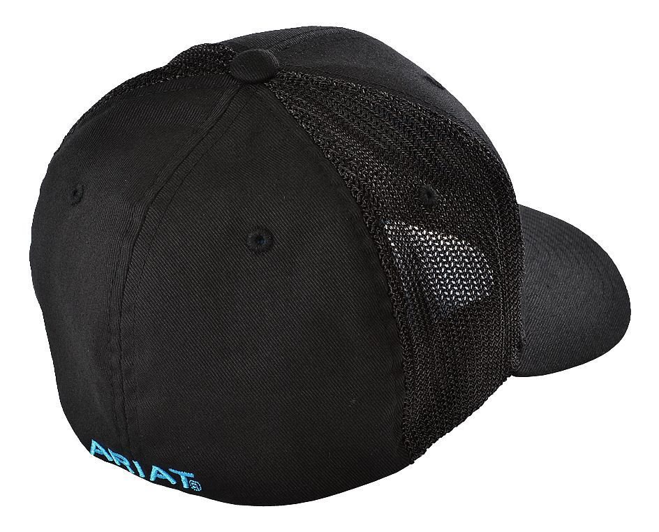 da1451ff269 ... cheap ariat blue logo embroidered cap black hi res 74d1d 1799d