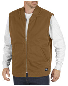 Dickies Sanded Duck Insulated Vest, Brown Duck, hi-res
