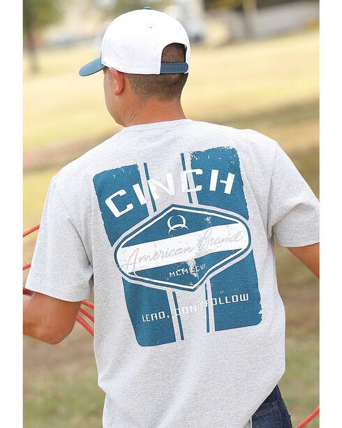 Cinch Men's Heather Grey Short Sleeve Screen Print Jersey Tee , Heather Grey, hi-res