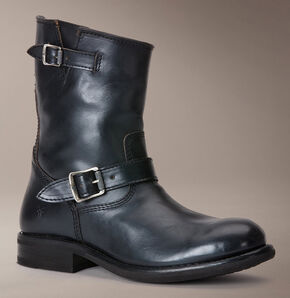 Frye Sutton Engineer Boots, Black, hi-res