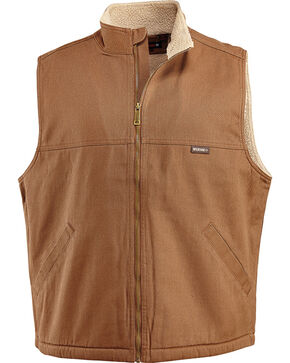 Wolverine Men's Sherpa Lined Upland Vest, Brown, hi-res