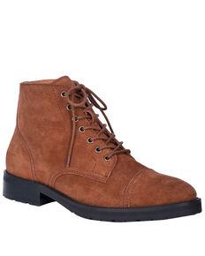 Dingo Men's Hutch Lace Shoes - Round Toe, Brown, hi-res