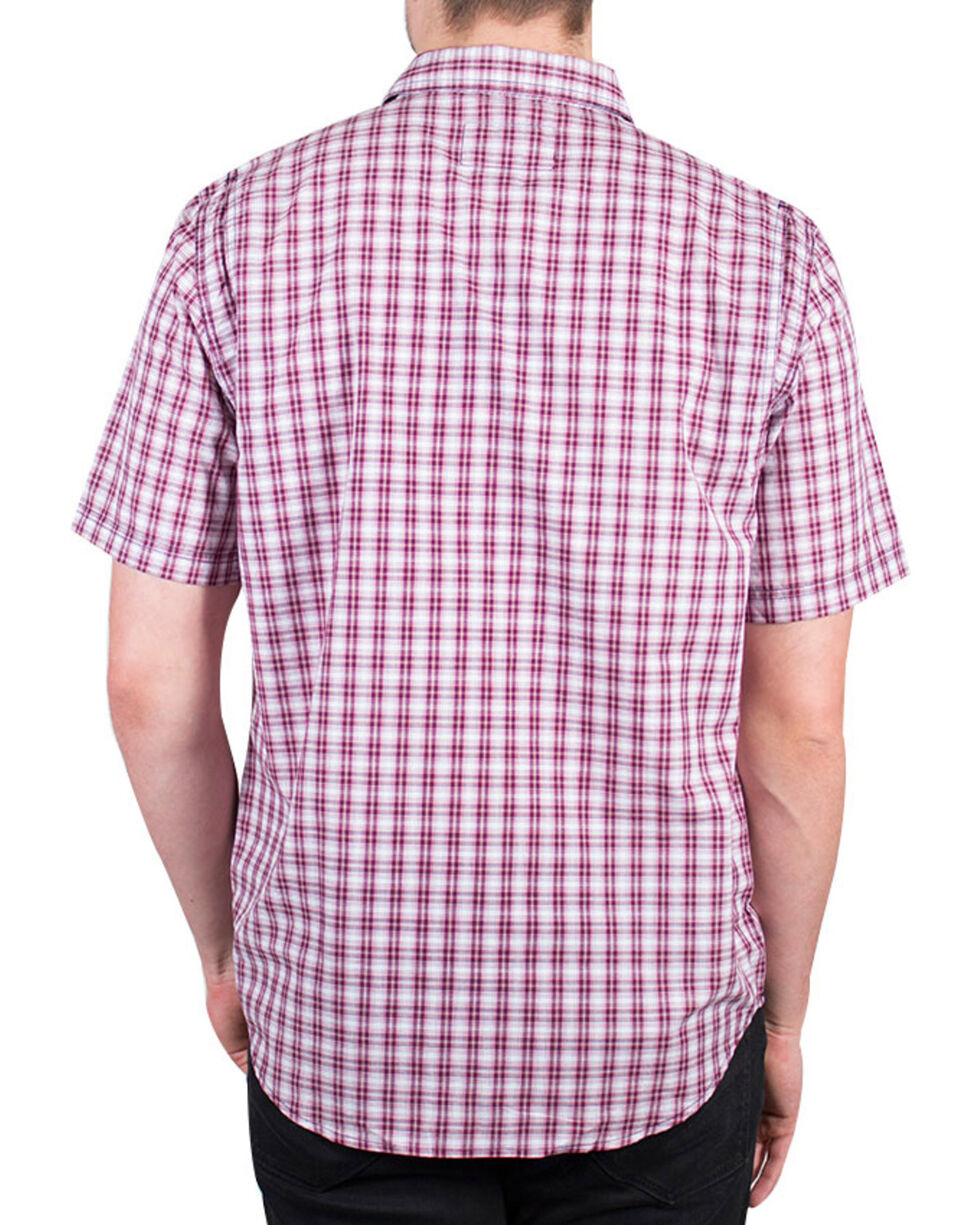 Timberland Men's Plotline Short Sleeve Plaid Work Shirt , Red, hi-res