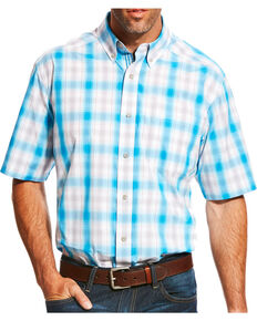 eb2ebaff Ariat Mens Pro Series Lowry Plaid Short Sleeve Button Down Shirt, Multi, hi-