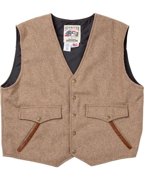Schaefer Outfitter Men's Taupe Stockman Melton Wool Vest - 2XLT, Taupe, hi-res