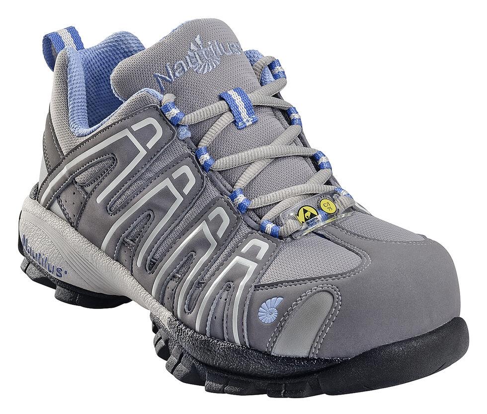 Nautilus Women's ESD Athletic Work Shoes - Composite Toe, Grey, hi-res