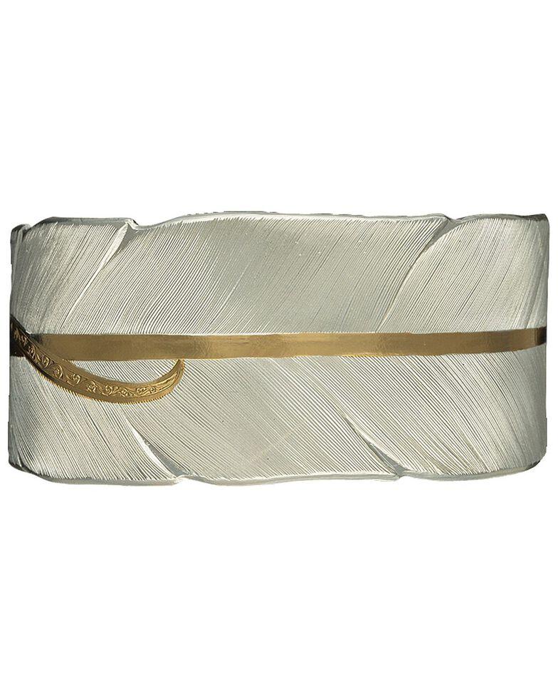 Montana Silversmiths Two-Tone Feather Bracelet, Silver, hi-res