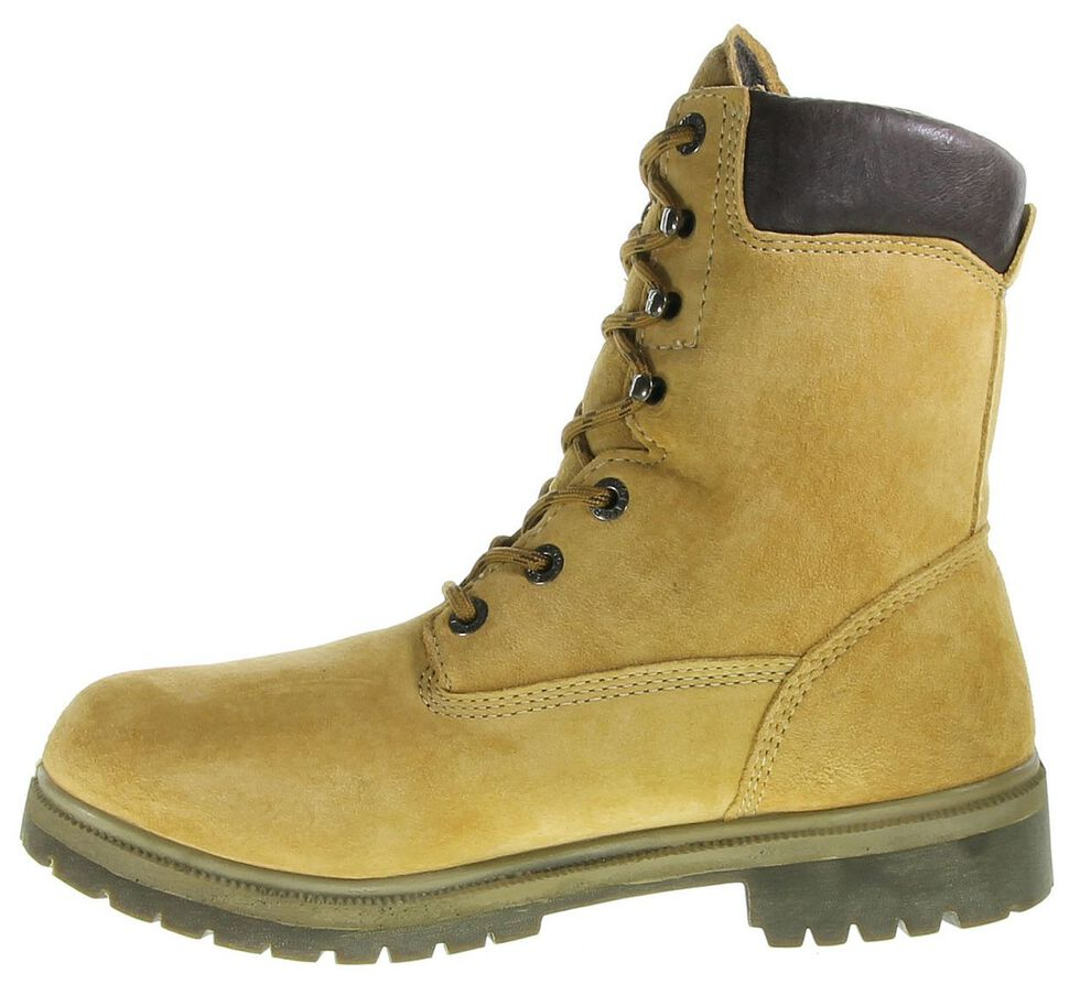 """Wolverine 8"""" Waterproof Lace-Up Work Boots - Round Toe, Gold, hi-res"""