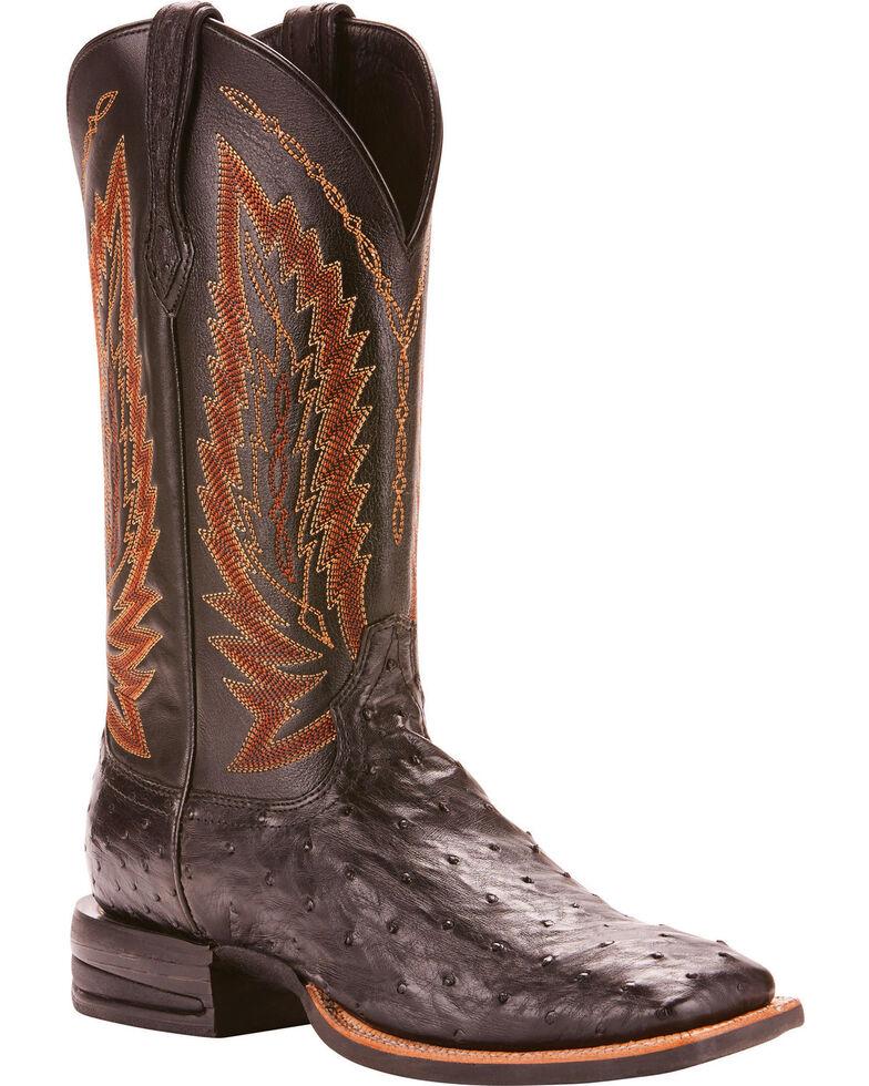 Ariat Men S Platinum Full Quill Ostrich Cowboy Boots
