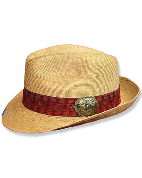 Atwood Women's Flower Concho Fedora , Natural, hi-res