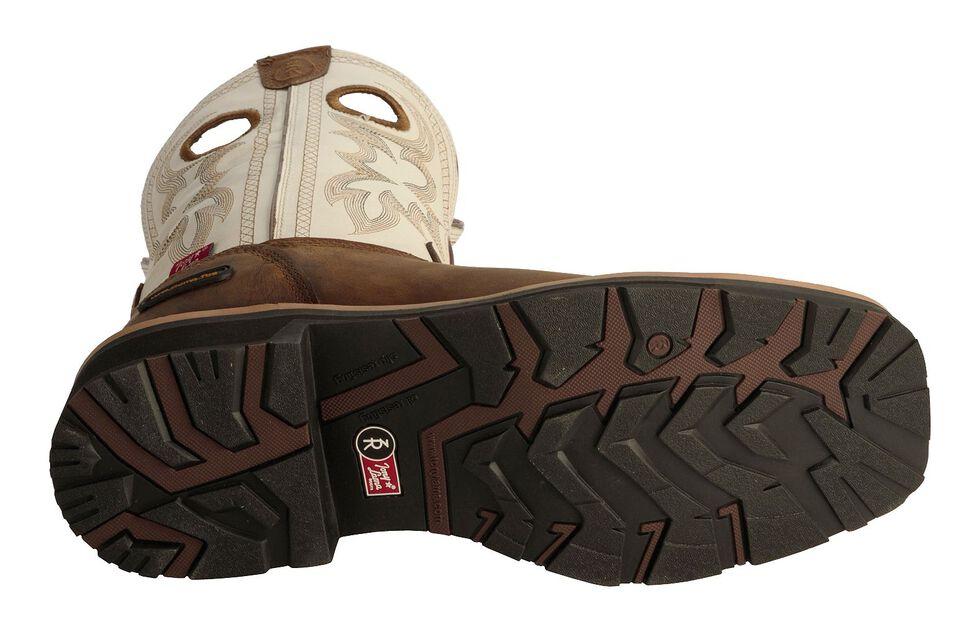 Tony Lama 3R White Waterproof Cheyenne Chaparral Boots - Comp Toe, Bark, hi-res