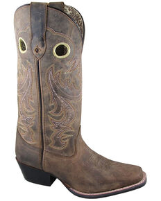Smoky Mountain Women's Wilma Western Boots - Square Toe, Brown, hi-res