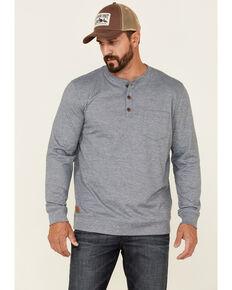 Moonshine Spirit Men's Light Blue Upper Lodge Long Sleeve Henley Pocket T-Shirt, Light Blue, hi-res