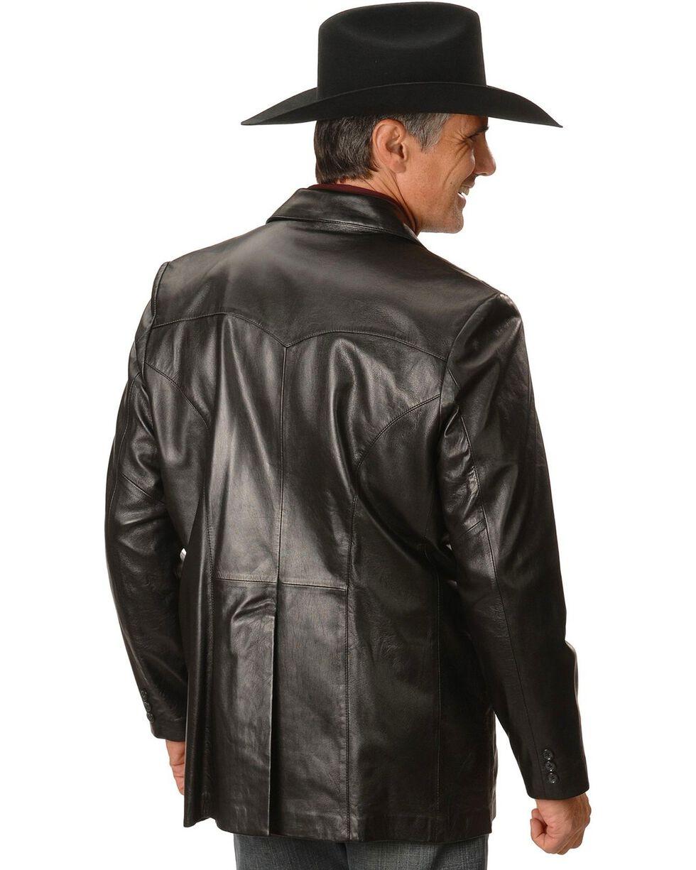 Scully Ostrich Trim Leather Blazer - Regular / Big and Tall, Black, hi-res