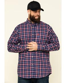 Ariat Men's FR Ferguson Small Plaid Long Sleeve Work Shirt , Blue, hi-res
