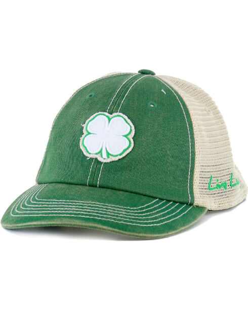 Black Clover Men's Live Lucky Vintage Luck Mesh Ball Cap, Green, hi-res