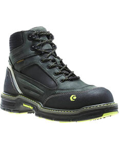 "Wolverine Men's Overman 6"" Lace-Up WP Work Boots - Composite Toe, Grey, hi-res"
