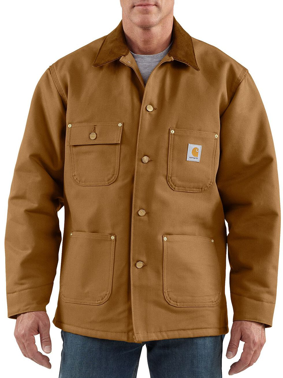 Carhartt Duck Chore Coat, Brown, hi-res